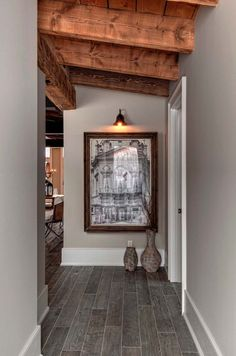 Luxury Canadian home reveals splendid rustic-modern aesthetic This stunning rustic-modern residence was custom designed by Canadian-based Timberworx Custom Homes, located in Guelph, Ontario, Canada. Modern Rustic Decor, Modern Rustic Homes, Modern Rustic Interiors, Rustic Style, Rustic Blue, Rustic Crafts, Rustic Theme, Rustic Signs, Modern House Design