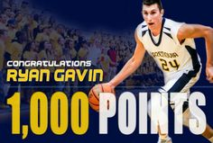 Onondaga High School graduate and Onondaga Community College transfer Ryan Gavin (Syracuse, NY) scored his 1000th career point for the Cazenovia College Wildcats on Friday night. Prior to this milestone, Gavin recorded his 597th rebound on Thursday, Jan. 7th against Wells College to set the college's all-time career rebounding record.