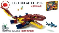 Lego Dragon, Fire Dragon, Lego Creator, The Creator, Lego Dinosaur, Lego Jurassic World, Lego Moc, Lego Instructions, Lego City