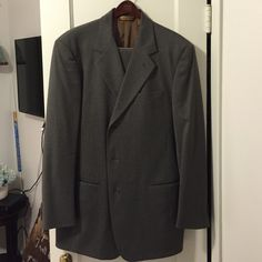 Men's Donna Karan New York gray wool suit Vintage men's Donna Karan New York gray wool 3-button 2-piece suit. Size 42R jacket. Size 36 pleated pants. Donna Karan New York Other