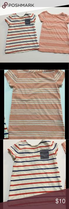 12-18M Old Navy Dresses Excellent condition! Old Navy t-shirt dresses. Size 12-18 months. White with red and blue stripes. Peach and white striped. Old Navy Dresses Casual
