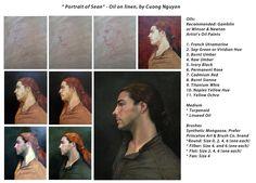 """""""Portrait of Sean"""" - Oil on linen, by Cuong Nguyen"""