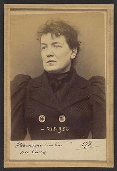 Herman. Caroline. 33 ans, née à Paris Vllle. Couturière. Disposition du Préfet (Anarchie). 21/3/94.