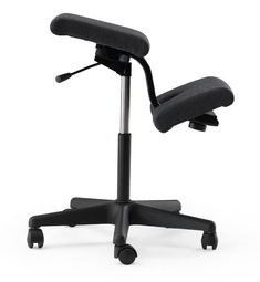 Varier Wing Kneeling Chair - Back in Action. Height adjustable, wheel-able and fantastic for posture and building spinal strength.   A Peter Opsvik Design original.