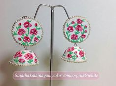 Quilling Work, Paper Quilling Jewelry, Quilling Earrings, Paper Quilling Designs, Paper Earrings, Quilling Ideas, Paper Jewelry, Paper Beads, Diy Earrings