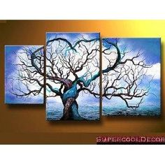 Modern Oil Painting on Canvas Stretched Framed on Wooden Frame - Origin of Life