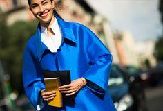 Carolina Issa beautiful blue jacket