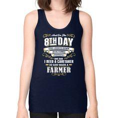 Farmer 8TH DAY Unisex Fine Jersey Tank (on woman)