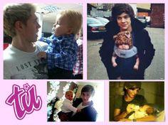 Así se verían los One Direction como tiernos papás