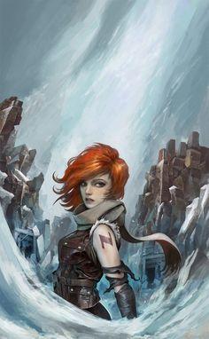 Elia la Passeuse d'Ames - PKJ Cover, Alexandre Chaudret on ArtStation at https://www.artstation.com/artwork/9kQ8a