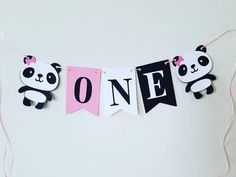 Panda one bannerpanda highchair banner panda birthday party