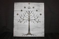 Lord of the Rings White Tree of Gondor Wall Hanging / Sign