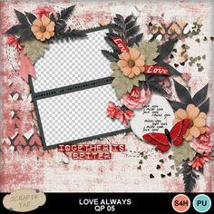 Digital Scrapbooking Kits   Love always QP05-(Yascrap)   Holidays - Valentine's Day, Love   MyMemories