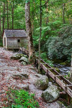 Alfred Reagan House & Tub Mill, Great Smoky Mountains National Park, USA