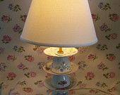 Teacup Lamp, Upcycled, Repurposed Lighting