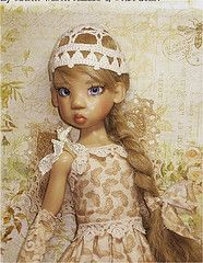 "BUTTERFLY LACE Uniquely Yours By B Dent fine quality handmade OOAK doll clothing designed for Kaye Wiggs 18"" ball jointed dolls."