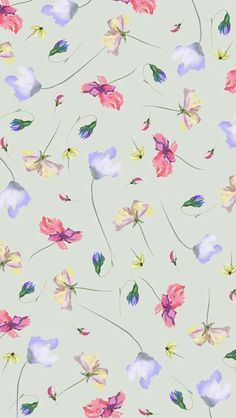 Vintage Flowers Wallpaper, Flowery Wallpaper, Flower Phone Wallpaper, Love Wallpaper, Pattern Wallpaper, Original Iphone Wallpaper, Wallpaper Iphone Cute, Cellphone Wallpaper, Wallpaper Backgrounds