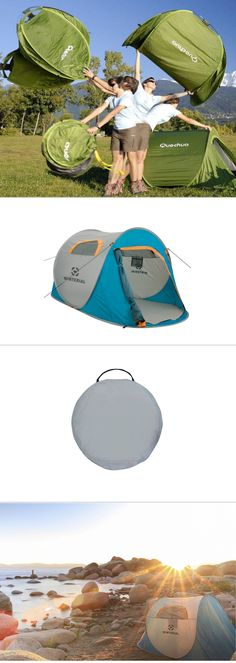 Amazing popup tent that sets up in seconds. The tent is durable, compact and light, and has room for two sleeping bags.