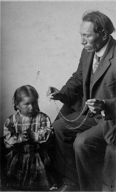 Black Elk (Oglala) and daughter, 1910 by Marquette University Archives, via Flickr
