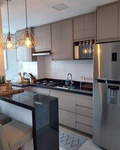 Kitchen by. … – Home Decor&Remodel Kitchen Room Design, Kitchen Cabinet Design, Kitchen Sets, Modern Kitchen Design, Kitchen Layout, Home Decor Kitchen, Home Decor Bedroom, Kitchen Interior, Home Kitchens