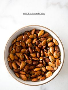 HERB ROASTED ALMONDS - a house in the hills