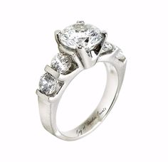 A Perfect 2.9CT Round Cut Russian Lab Diamond Ring