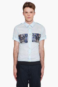 Raf by Raf Simons Shirts with animal print pockets