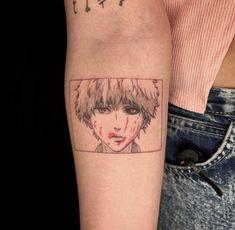Manga Tattoo, Anime Tattoos, Arm Tattoo, Sleeve Tattoos, Mini Tattoos, Body Art Tattoos, Small Tattoos, Kaneki, Creepy Tattoos