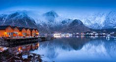 Arctic Orange | Ballstad, Lofoten, Norway by v on life A search for the local dive shop brought us to the village of Ballstad. While we left the village without success of locating the dive shop, we did walk away with this shot moments before the...