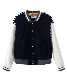 Hair Bulb Pleuche Split Joint PU Leather Jacket