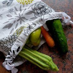 Jeleni - plátěné stahovací pytlíky-sáčky-sada 3ks Zero Waste, Asparagus, Sad, Vegetables, Studs, Vegetable Recipes, Veggies
