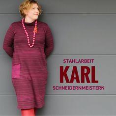 Karl, Schneidermeistern, Schnittmuster, Strickpunkt, Stoffbüro, Stahlarbeit, Bordeaux, Fuchsia, Curvy Sewing