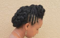 Natural Hair| CORNROW PROTECTIVE STYLE