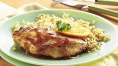 Wake up the flavor chicken with an easy orange glaze made from orange marmalade, mustard, orange juice and soy sauce.  It's citrus delicious!
