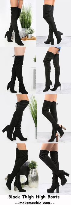 Thigh High Boots BLACK