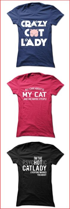 If you love cats, then you'll love this selection of funny t-shirts and hoodies for cat lovers. See full collection here: https://www.sunfrog.com/dmh0226/cats