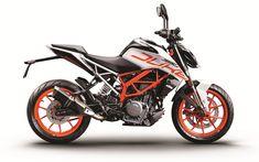Download wallpapers KTM 390 Duke, 4k, 2017 bikes, superbikes, austrian motorcycles, KTM