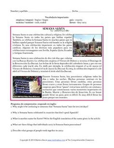 Semana Santa Activities from Martina Bex! $3