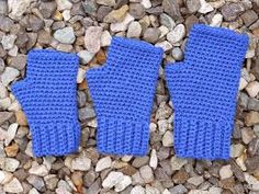 Free fingerless glove crochet pattern... its supposed to be for kids but much better for adults