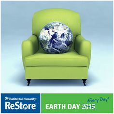 Celebrate #EarthDay by donating or shopping your local ReStore.