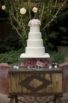 Even though the cake is pretty, I am a sucker for trees with lanterns and lights.