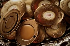 Single Note Solid Perfume in brass locket