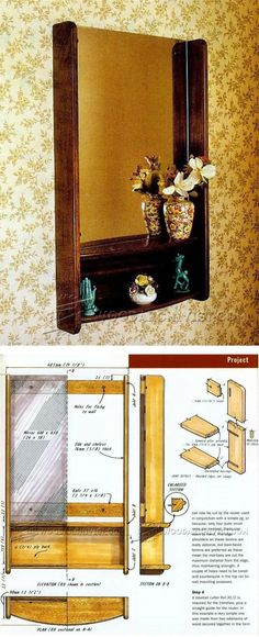 Hall Mirror Plans - Woodworking Plans and Projects   WoodArchivist.com