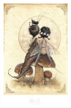 """Poster Fée et Elfe """"Les Amants de Kensington"""""""