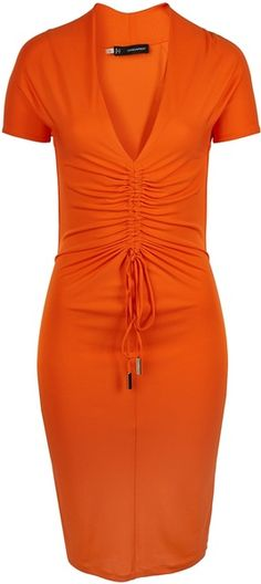 Dsquared Dress Orange: Love it just lose the tie thingy in the front and it's a go! Michael Kors Outlet, Michael Kors Selma, Orange Mode, Valentino, Coral, Orange Fashion, Pret A Porter Feminin, Lauren, Orange Dress