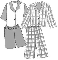 "Sasha Gregor Doll Clothes Pattern - Boy or Girl Pajamas PDF - Sewing for 16"" Doll - epattern download - instant download"