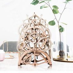 buy Vintage Home Decor DIY Crafts Wooden Pendulum Clock Model Kits Decoration Mechanical Wall Watch Gear Clockwork for Gift -word wide shiping Puzzles 3d, Wooden Puzzles, Wooden Clock Kits, Mechanical Gears, Wall Watch, Model Building Kits, Model Kits, Building Toys, Pendulum Clock