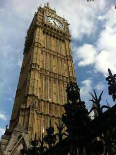 I have a fascination with tall buildings and taking a picture from below! Big Ben