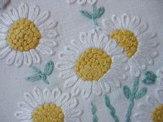 daisy embroidery - Buscar con Google