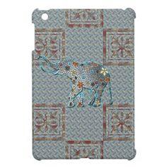 Ornate Design Flower Elephant Cover For The iPad Mini